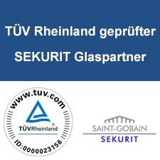 TÜV Rheinland geprüfter SEKURIT Glaspartner